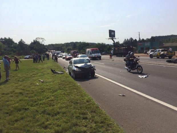 Motociclista morre em acidente de trânsito em São Sebastião do Caí Bombeiros Voluntários de São Sebastião do Caí/
