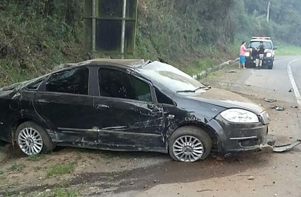 Motorista sob efeito de álcool sofre acidente na BR-116, em Caxias do Sul PRF / divulgação/divulgação