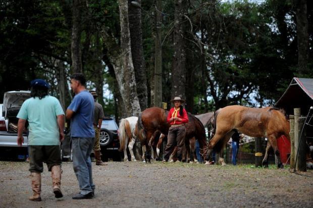 Possibilidade de chuva não desanima gaudérios acampados nos Pavilhões da Festa da Uva, em Caxias Felipe Nyland/Agencia RBS