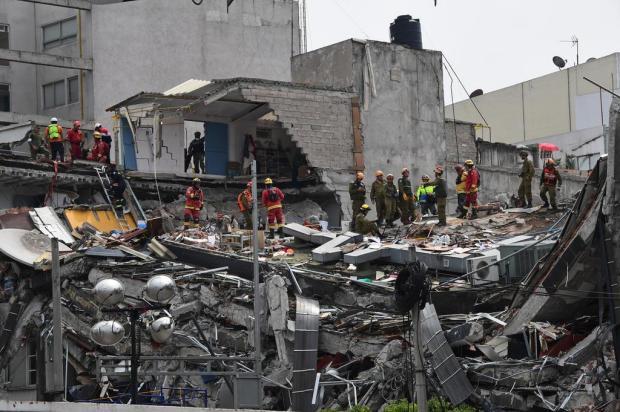 Caxiense relata terror em terremoto no México Ronaldo Schemidt/AFP
