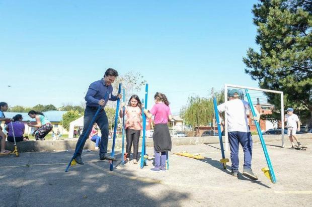 Prefeito Daniel Guerra participa de atividades com a gurizada Petter Campagna Kunrath/Divulgação
