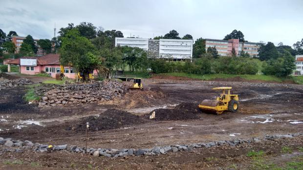 Primeira etapa em obra no Lago da UCS está prevista para ficar pronta até o fim de março Ângela Salvallaggio/Gaúcha Serra