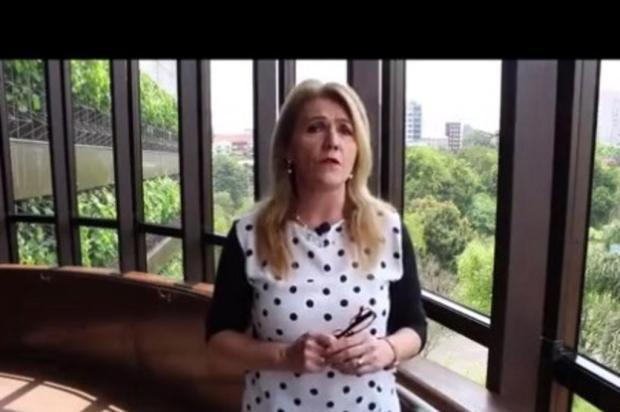 """""""Aécio é uma decepção"""", define vereadora e presidente do PSDB de Caxias, Paula Ioris Youtube/Reprodução"""