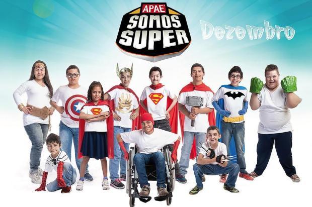 """3por4: Calendário 2018 da Apae Caxias, com o tema""""Somos Super"""", começa a ser vendido nesta segunda Andrei Cardoso/Divulgação"""