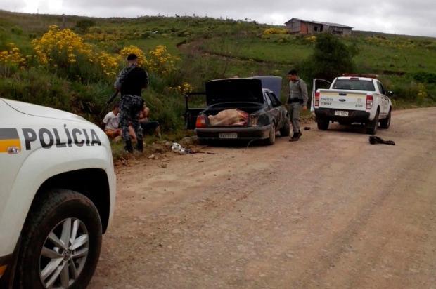 BM flagra ação de abigeatários no interior de São Francisco de Paula Polícia Militar / Divulgação/Divulgação