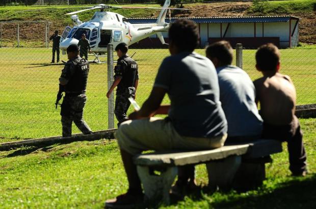 Helicóptero reforça policiamento na zona norte de Caxias do Sul Diogo Sallaberry/Agencia RBS