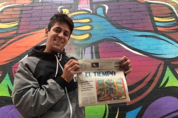 3por4: Fábio Panone Lopes participa da segunda edição da iniciativa Distrito Grafitti, em Bogotá Arquivo pessoal/Arquivo pessoal