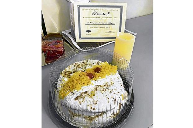 """Após decisão que garante mandato de vice de Caxias, Ricardo Fabris leva """"torta da harmonia"""" à PGM Reprodução/"""
