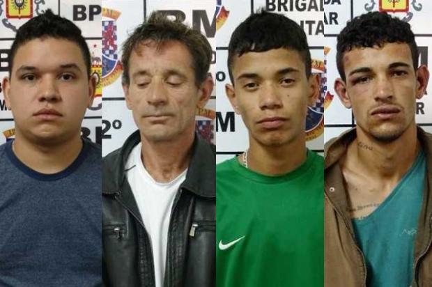 BM prende quadrilha após roubo a residência em Caxias do Sul Divulgação/Divulgação