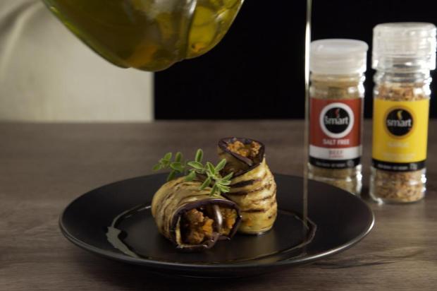 Enroladinho de berinjela com carne Smart Temperos/Divulgação