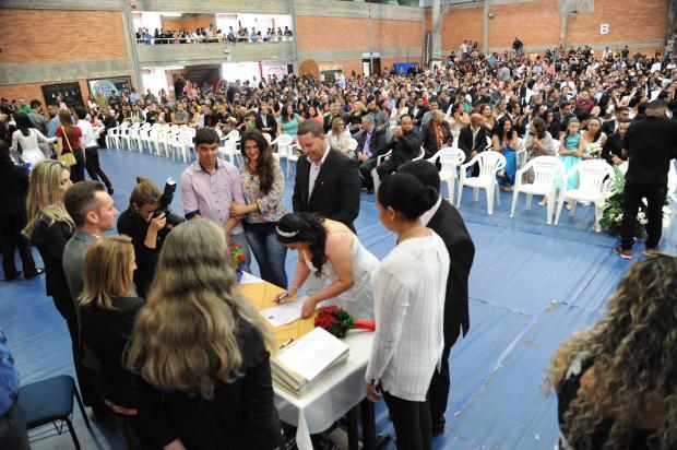 Casamento comunitário une 187 casais neste sábado em Caxias do Sul Cláudia Velho / Divulgação/Divulgação