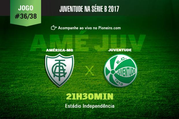 Jogo ao vivo: Juventude enfrenta o América-MG pela 36ª rodada Pioneiro / Pioneiro/Pioneiro