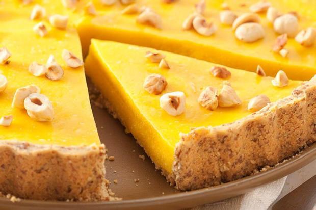 Prove torta mousse de manga com avelãs Nestlé/Divulgação