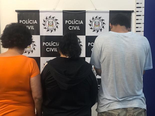 Três pessoas são presas por latrocínio de idoso em Caxias Polícia Civil / Divulgação/Divulgação
