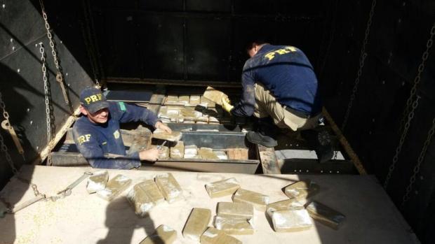 Apreensões de cocaína crescem quase 540% nas rodovias federais do Estado Polícia Rodoviária Federal/Divulfação