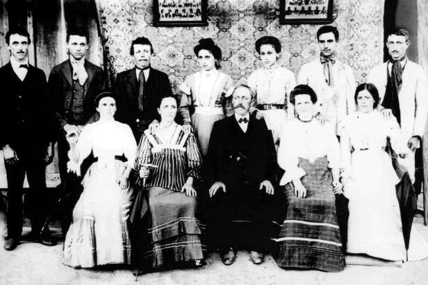 Memória: Primeiro encontro da família Lazzari Não se aplica/Arquivo Pessoal