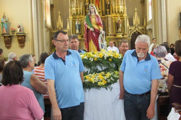 Missa festiva campal homenageia padroeira Santa Catarina em Caxias do Sul Felipe Michelon Padilha/Divulgação