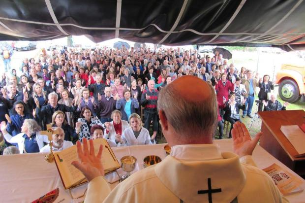 Missa campal em honra a Santa Catarina reúne duas centenas de fiéis, em Caxias Felipe Padilha/Divulgação