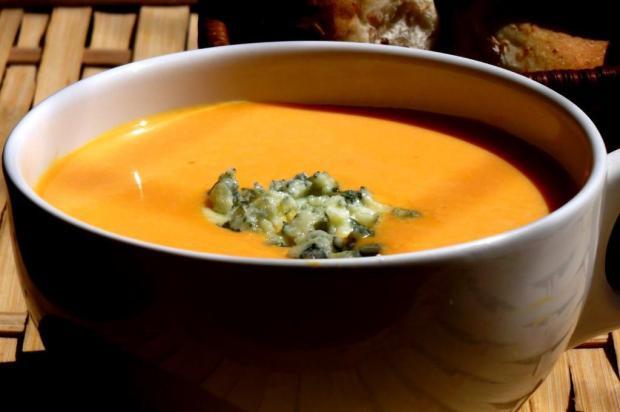 Prove sopa cremosa de jerimum com gorgonzola Pitadinha/Divulgação