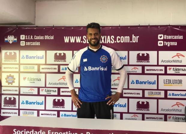 Caxias apresenta goleiro Gledson, que atuou nas três últimas edições da Série D Cristiano Daros / Agência RBS/Agência RBS