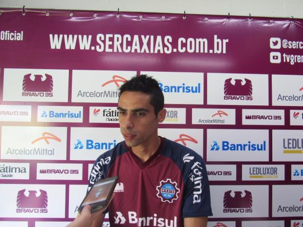 Volante Gilson é apresentado pelo Caxias para a disputa do seu primeiro Gauchão Vitor Soccol / Caxias, Divulgação/Caxias, Divulgação
