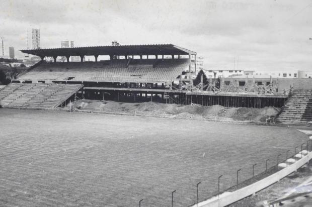 Memória: construção do estádio Alfredo Jaconi Vasco Rech/Agencia RBS