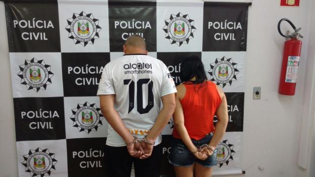 Casal é preso por tráfico e 88 porções de crack são apreendidas em Farroupilha Polícia Civil / divulgação/divulgação