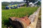 Motociclista fica gravemente ferido após colidir contra van em Garibaldi PRF / Divulgação/Divulgação