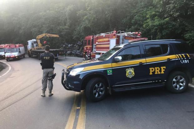 Acidente deixa um morto e dois feridos na BR-470 entre Bento Gonçalves e Veranópolis PRF/Divulgação