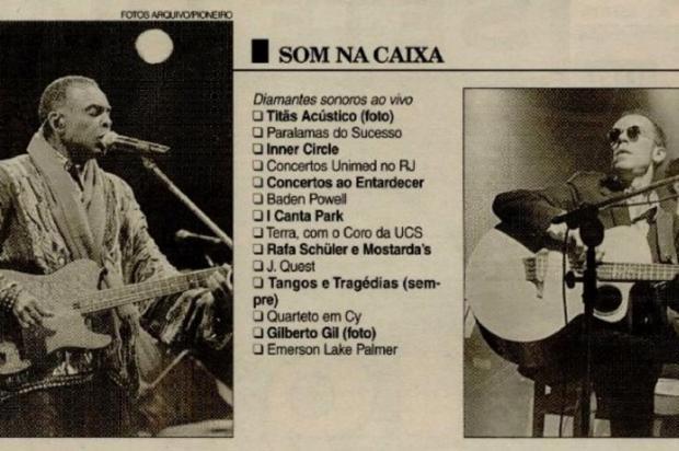 Memória: a arte brilha no Pioneiro em 1997 Pioneiro/Reprodução