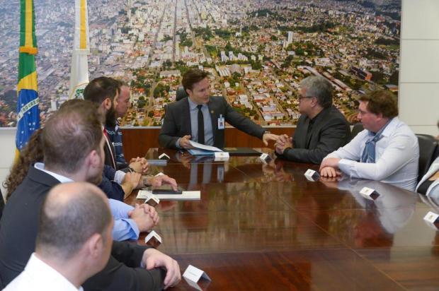 Nova Mesa Diretora da Câmara de Caxias faz visita de cortesia ao prefeito Daniel Guerra Petter Capagna Kunrath/Divulgação