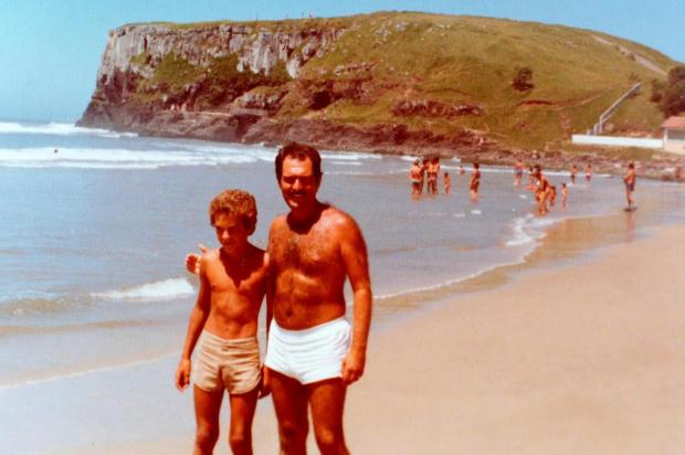 Memória: Marcus Gravina na Praia da Cal em 1981 reprodução/Agencia RBS