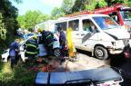 Mulher fica presa nas ferragens após acidente na ERS-122, em Caxias Porthus Junior/Agencia RBS