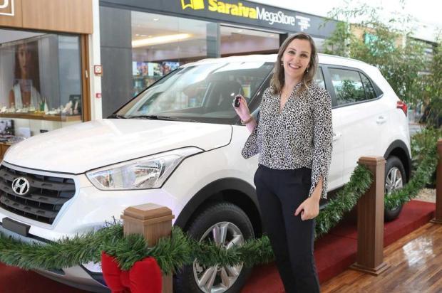 Carro da campanha natalina do Shopping Iguatemi Caxias já tem ganhadora Jeferson Deboni/divulgação