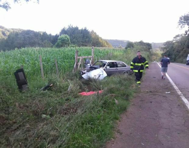 Dois homens morrem em acidente na ERS-129, em Guaporé Brigada Militar de Guaporé / Divulgação/Divulgação