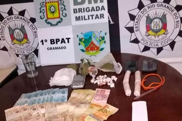 Ação conjunta apreende explosivos em ponto de tráfico de Gramado Polícia Civil de Gramado / Divulgação/Divulgação
