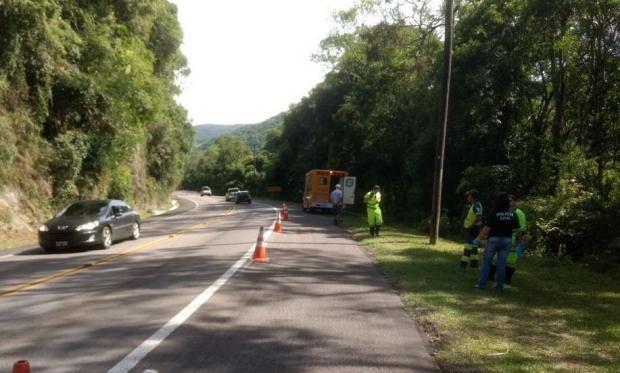 Passageiro morre após se jogar de caminhão em movimento, em Vacaria PRF / divulgação/divulgação