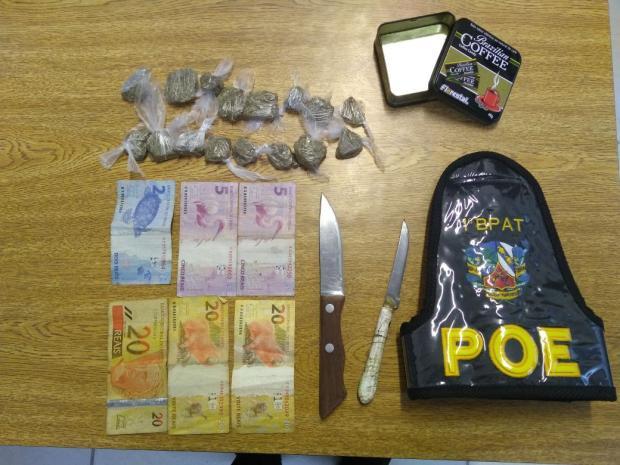 Adolescente vendia drogas quando pais não estavam em casa, diz BM de Gramado Brigada Militar / Divulgação/Divulgação