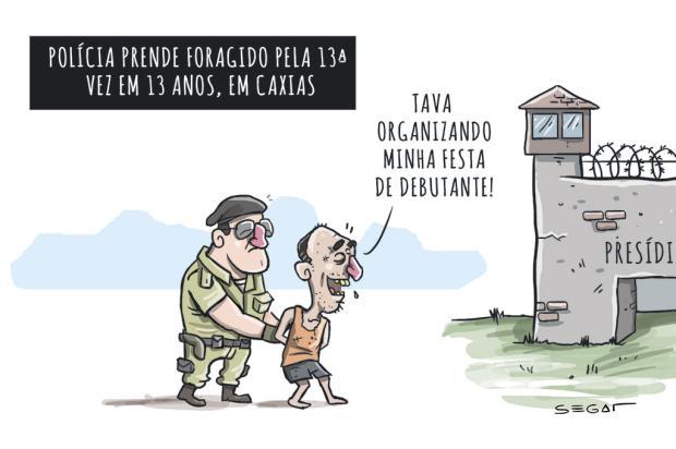 Segat: foragido é preso pela 13ª vez em Caxias Charles Segat/