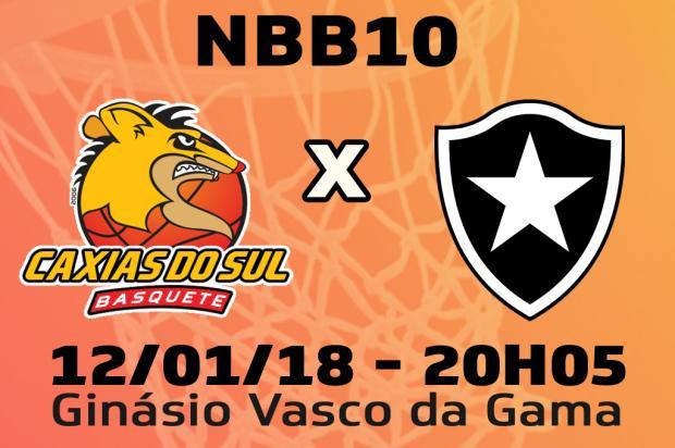 Acompanhe lance a lance Caxias Basquete x Botafogo Arte / Agência RBS/Agência RBS