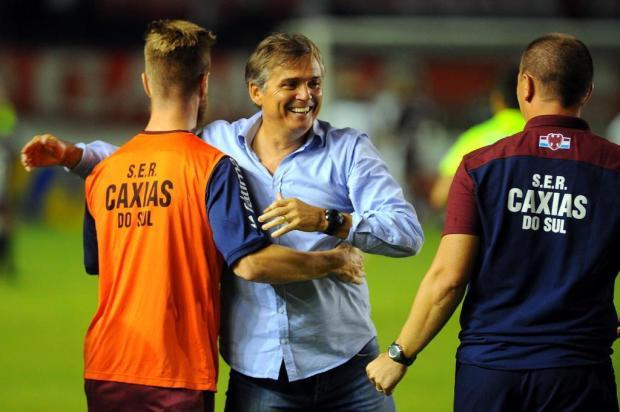 Jogadores do Caxias comemoram vitória e pregam cautela sobre a campanha Felipe Nyland/Agencia RBS