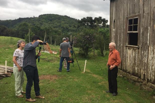3por4: Equipe do documentário Legado Italiano volta à Serra para novas gravações Diego Adami/Divulgação