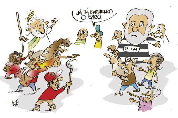 Iotti: protestos pró e contra Lula Iotti/
