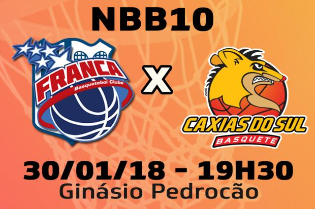 Jogada a jogada para Franca e Caxias Basquete pela segunda rodada do returno do NBB 10 Pioneiro / Pioneiro/Pioneiro