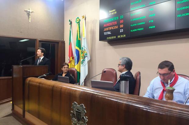 Prefeito de Caxias do Sul é hostilizado durante abertura do ano legislativo Juliana Bevilaqua / Agência RBS/Agência RBS