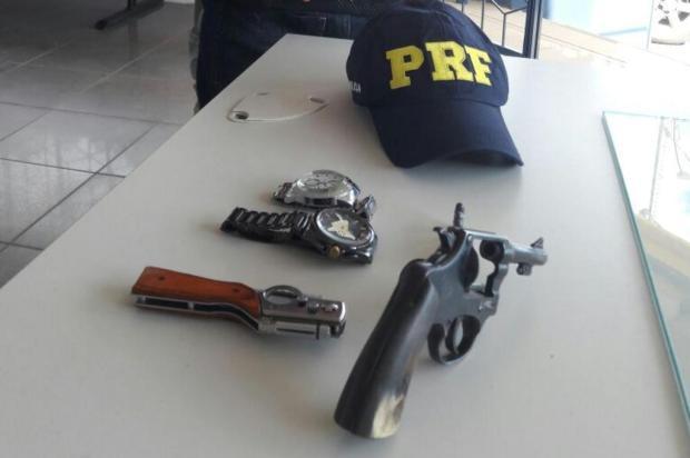 Homem é preso por porte ilegal de arma no Rodeio Internacional de Vacaria PRF/Divulgação
