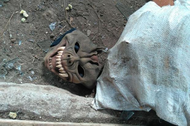 Para não ser reconhecido pela ex-mulher, suspeito usou máscara em assassinato no interior de Vacaria Polícia Civil/Divulgação
