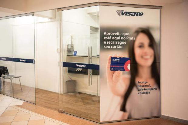 Visate abre ponto para venda de cartões de passagem no Prataviera Shopping, em Caxias Daniel Hendler/Divulgação