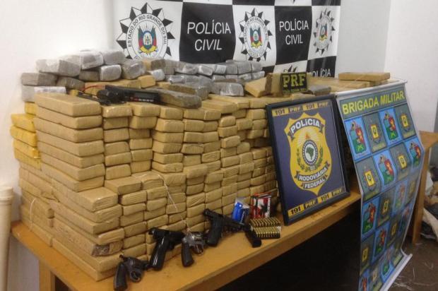 Ação policial apreende 549 quilos de maconha na BR-116, em Vacaria Polícia Civil/Divulgação