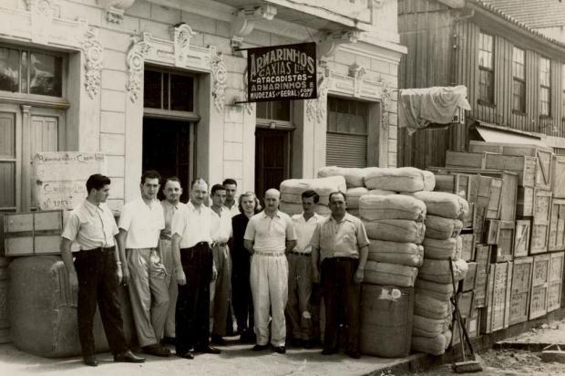 Memória: Armarinhos Caxias, na Avenida Júlio, em 1955 Studio Tomazoni Caxias/Acervo Arquivo Histórico Municipal João Spadari Adami,divulgação